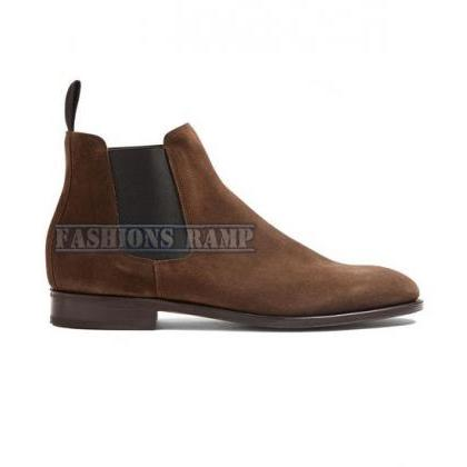 Handmade Chelsea Suede Leather Boot..