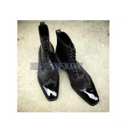 Fashion Ankle Boots Men Two Tone Wi..