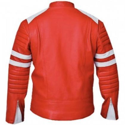 Red Leather Jacket , Celebrity Jack..