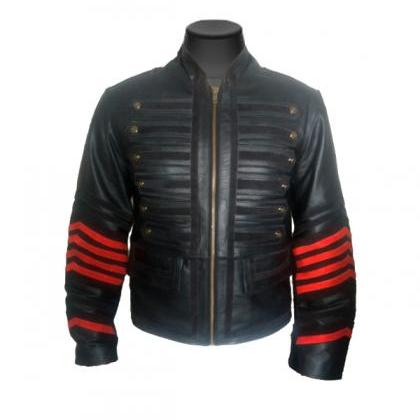 Military Leather jacket Collar Leat..