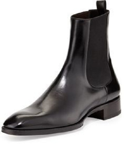 New Handmade Men Black Leather Chelsea Dress Formal Boots