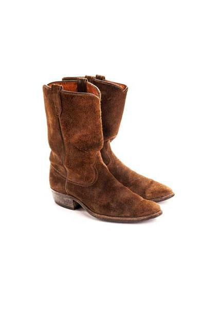 MEN'S STYLISH SUEDE COWBOY HANDMADE LEATHER ANKLE BOOTS SUEDE BOOTS