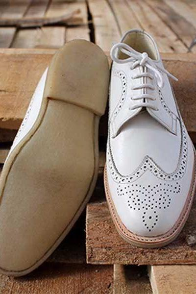 Handmade Brogue Wing Tip Leather Formal Trendy Fashion Shoes