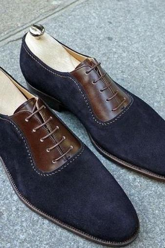 New Men spectator Two Tone Suede & Leather Dress Formal Shoes
