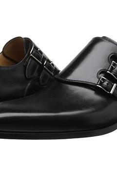 New Handmade Men Triple Monk Strap Leather Dress Shoes