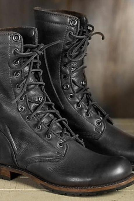 Handmade Men's Black Military Boot, Combat Boots, Mens Winter Boot, Mens Long Boots