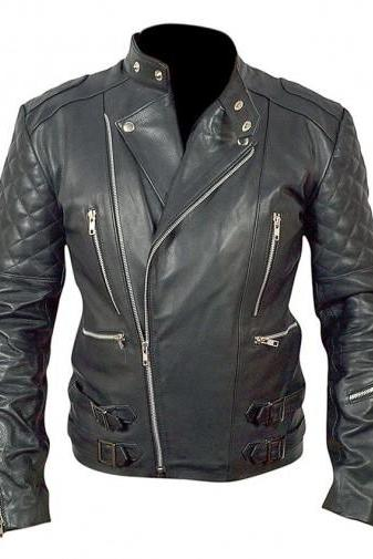 BROWN LEATHER JACKET JAMES BOND, CELEBRITY MEN JACKET