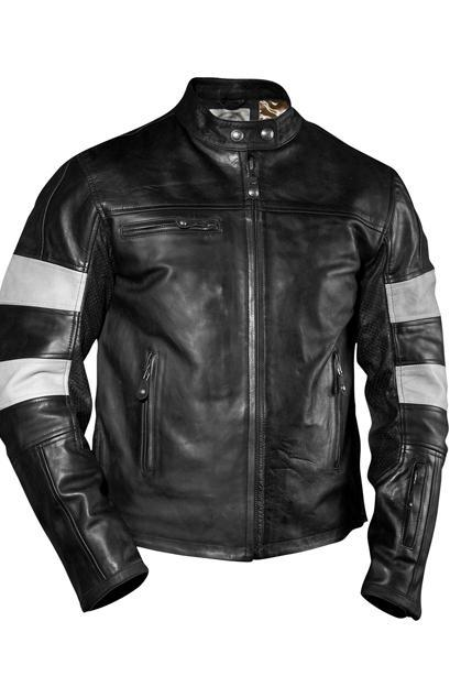 Black Biker Armerd Leather Jacket For Mens, Mens Leather Jacket