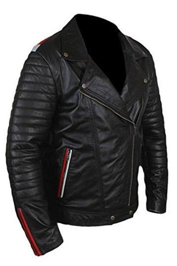 Men's Brando Leather Black Leather Jacket, Mens Leather jacket