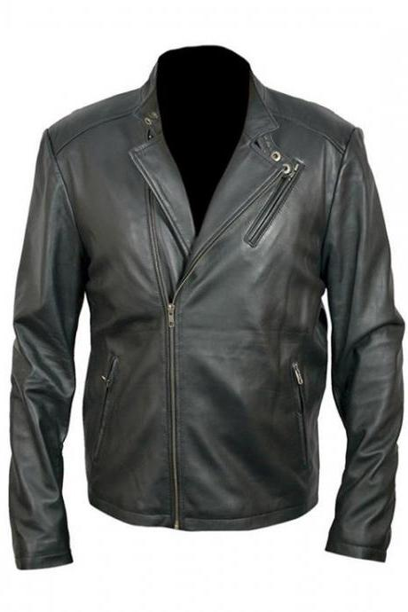Men's Fashion Iron Real Leather High Quality Jacket, Mens Leather jacket