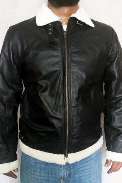 Men's Sheep Leather Jacket , Aviator Flying Pilot Leather jacket