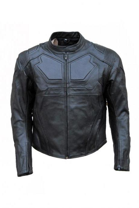 TECHNIC MERCURY GRAY ARMOUR LEATHER JACKET