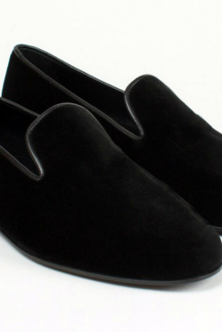 Fashion Black Velvet Slip-on shoes Men Casual Loafer Velvet Party Shoes