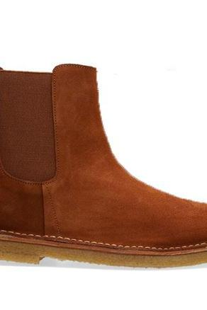 New Handmade Custom Mens brown Chelsea Suede Boots, Men Suede Fashion Formal Boots