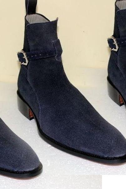 New Handmade Blue jodhpurs Boot, Men Blue Boots