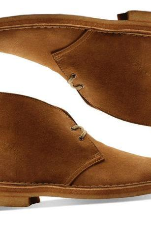 New Handmade Chukka Leather Suede Boots, Chukka Suede Ankle Lace UP Shoes