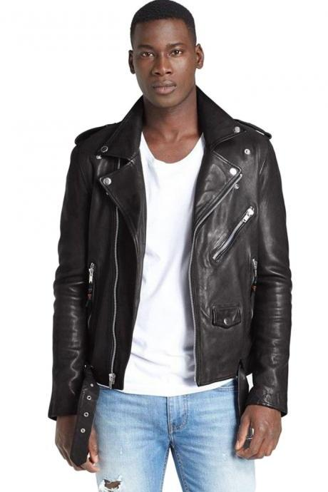 Men's Designer Collections Fashion Soft Lambskin Leather Jacket