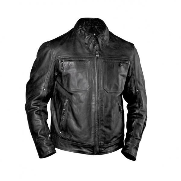 Mens Black Biker Armerd Leather Jacket Mens, Mens Leather Jacket