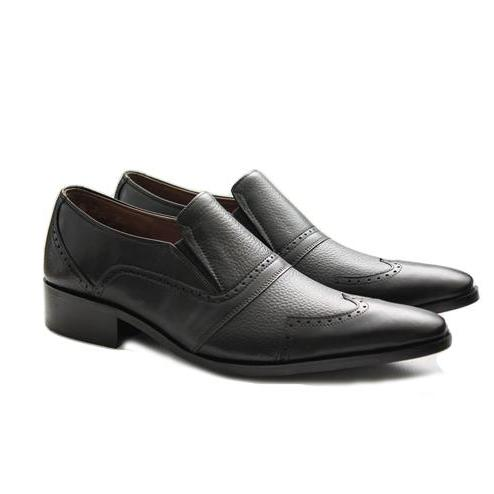 Men Black Shoes Combination of Soft Milt & Milt Cow leather