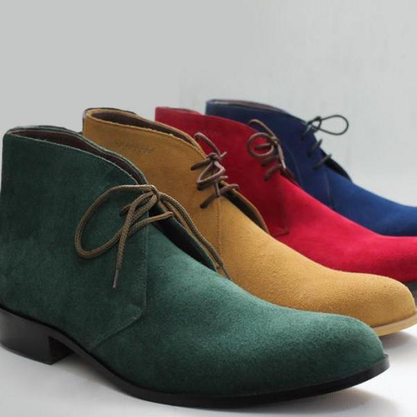 Suede Leather Chukka Boots Sheet Sole Chukka Boots Men