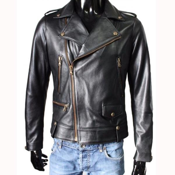 Leather Jacket New Motorcycle Stylish Slim Fit Lambskin Jacket